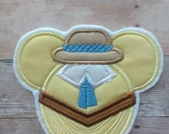 Jane Porter Mouse Head Patch ~ Iron On Tarzan Embroidered Applique ~ Jungle