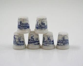 Vintage Delft Thimble Collection