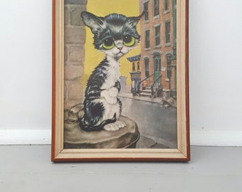 Doe eyed Cat Framed Print