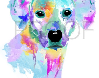 Rhodesian Ridgeback || Rhodesian || Geo the Rhodesian Ridgeback || Dog Art || Watercolor Dog Art || Watercolor Dog || Rhodesian Art