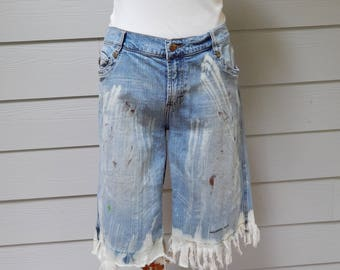 Destroyed Denim Shorts, Mossimo Denim, Size 15