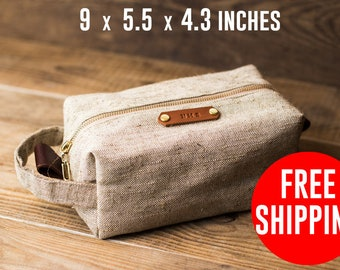 Dopp kit Father gift Toiletry case Dad gifts  groomsmen gifts Mens toiletry bag Wedding gift Groomsmen gift Toiletry bag