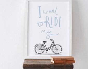 """8x10"""" Ride My Bike Print"""