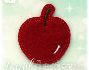 """Apple Fruit Feltie Digital Design File - 1.75"""""""