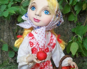 "OOAK Art doll ""Red apples"""