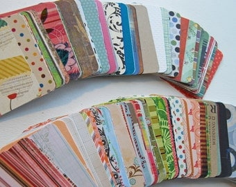 Destash Supplies Mystery stack of 50 Project Life Journal Cards 3x4 size with rounded corners