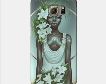 Virgo Samsung Galaxy Phone Case African American Zodiac Goddess Black Girl Magic  Afrofuturism