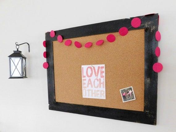 Extra Large Framed Corkboard Cork Board By Tenpennyhouse