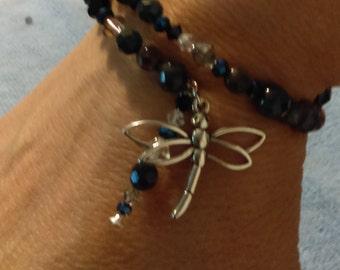 Agate Dragonfly Bracelet