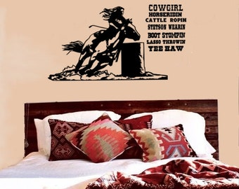Horse Decal, Horse Quote Decal,Barrel Racer Decal, Cowgirl Quote, Horse Decal, Horse Sticker, Horse Quote, Western Decal, Wall Decal, Rodeo