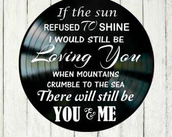 Thank You song lyrics Led Zeppelin vinyl record wall art music lyric art song art vinyl record art music lovers gift home decor anniversary