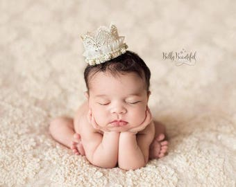 Capri Crown • Girls Newborn Lace • Lace Crown •Newborn Flower Crown • Photo Prop | Ready To Ship