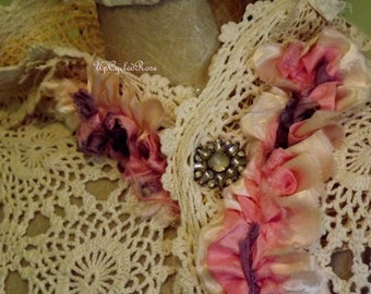 Victorian Inspired Opera Shawl Vintage Bohemian Shabby Couture Ready to Ship FREE in Continental United States