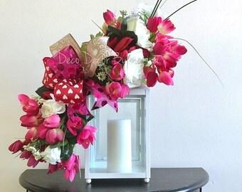 Valentine's Day Lantern Swag - Lantern Swag - Valentine's Decoration - Valentine's Decor - Valentine's Swag - Valentine's Day - Holiday Swag