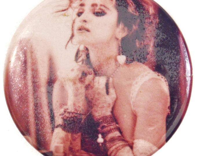 Vintage 80s Madonna Pinback Button Pin Badge