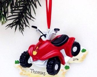 FREE SHIPPING 4 Wheeler Personalized Christmas Ornament / ATV Ornament / Personalized Name or Message
