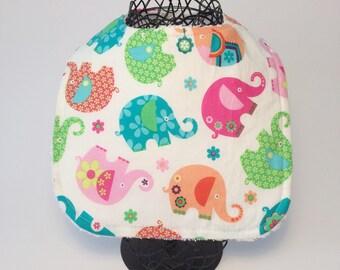 Baby Gift - Baby Bib - Bib - Girl Bib - Baby Girl Bib - Baby Shower - New Born Gift - Bib with Elephants - Elephant