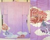 Light purple silk kimono ...