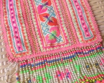 Vintage Hmong Ethnic Handmade embroidery delicate Hilltribe craft supplies