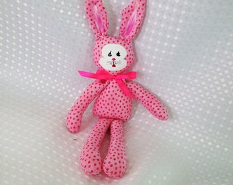 Handmade / Bunny /pink rabbit / /soft toy / babies gift / toddlers gift.