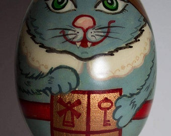 Gift wooden egg, Puss in boots