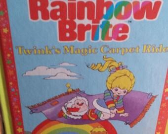 "Vtg Rainbow Brite hardcover book ""Twink's Magic Carpet Ride"" 1985-FREE US SHIPPING!"