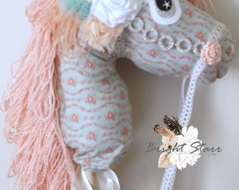 SOLD *** Horse on a stick - toy horse -  Horse toy - vintage toys - Handmade toy - gift for kid - photo prop - hobby horse - stick horse