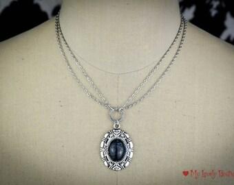 Midnight Necklace - romantic necklace - prom idea - victorian fashion