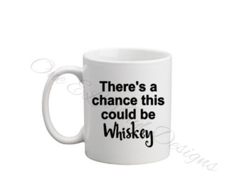 There's A Chance This Could Be (Whiskey, Vodka, Wine, Rum, Gin...) DIY Decal for Coffee Mug, Tumbler, Flask and more .. Decal Only