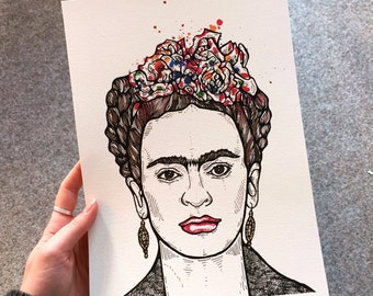 Frida Khalo // A4 Archival Giclee Print // by Amy Rose