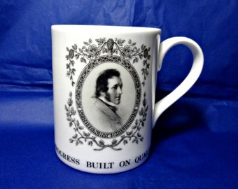 Sir Henry Doulton, Royal Doulton Founder, 100th Anniversary of Death Mug, 1997 Souvenir Cup, English Pottery Manufacturer, British Knight
