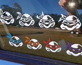 Car Decal - TMNT Teenage Mutant Ninja Turtles Cartoon Vinyl Laptop Sticker