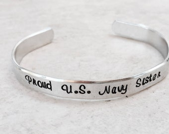 SALE Proud Navy Sister Navy Mom Military Sister Military Mom deployment gift bootcamp graduation army navy marine corps air force coast