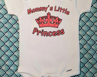 Mommy's Little Princess Baby Bodysuit. Custom Onesie. Take Home Outfit. Newborn Outfit.  Baby Girl