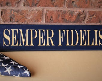 Semper Fi, Semper Fidelis Wood Sign, Fathers day gifts, USMC decor, Carved wood, Marine Corps decor, Marine Corps decor, USMC gifts
