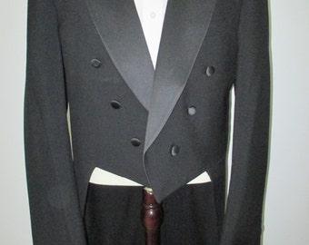 42XL Tux with Tails, Tuxtail Jacket, Neil Allyn tux, Tuxedo with Tails, Formal tux jacket, Black tux jacket with tails, Men's formal tux