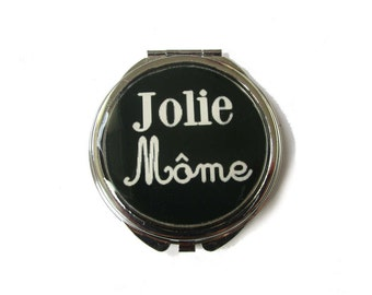 QUOTE MIRROR - Jolie môme = Pretty Girl - You are beautiful - Inspirational Jewelry - Be Yourself - Down Syndrome Beauty