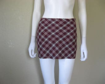 Plaid Micro Mini Skirt