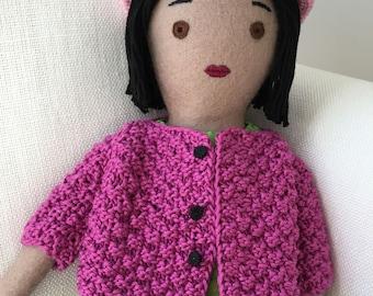 One-of-a-kind handmade cloth doll: Rosetta