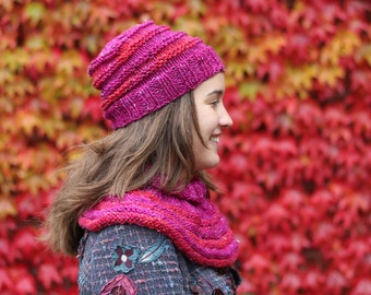 Neck warmer Knitting pattern for beginners, knitting pattern PDF download, winter fashion DIY