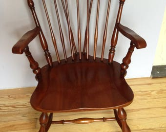 Special Listing for Penny Vintage Pennsylvania House Solid Cherry Windsor Captain's arm chair