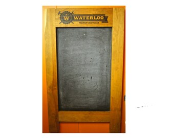 Waterloo Premium Craft Beer Chalk Board - Pub Beer Sign - Chalkboard Wall Sign - Promotional Beer Chalkboard Sign