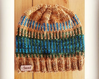 Ginger Colorwork Fair Isle Beanie Hat