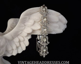Authentic Art Deco Bracelet, 1920's, Paste Bracelet, Vintage Diamante Bracelet, Rhinestone Bracelet, Wedding, Art Deco, Bridal Jewelry