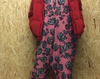 Pink Floral Oversized Jumpsuit