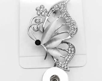 BUTTERFLY Brooch Snap Button 18 mm