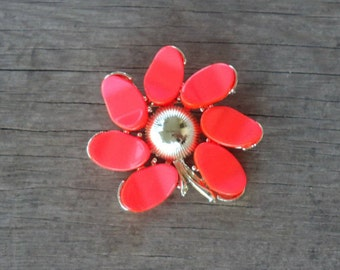 Orange Thermoset Brooch