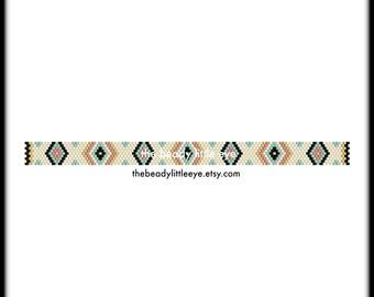 Peyote Patterns - Beading Patterns - Peyote Pattern - Bracelet Tutorial - Beading Tutorial - Peyote Tutorial - Geometric Print - GUAVA STRIP