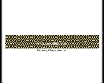 Peyote Patterns - Beading Patterns - Peyote Pattern - Bracelet Tutorial - Peyote Beading - Art Deco Print - Geometric Print - L'OR & LE Noir