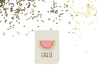 Watermelon {set of 10} Personalized Party Favor Bags